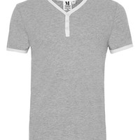 Grey Marl Baseball T-Shirt - Men's T-Shirts & Vests - Clothing