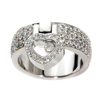 Chopard Heart Happy Diamond White Gold Ring