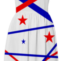 Patriotic Stars and Stripes Sundress created by One Stop Gift Shop | Print All Over Me