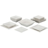 Walmart: 10 Strawberry Street Nova Square 19-Piece Dinnerware Set, Cream White