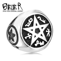 Supernatural New Design Cool Punk Big Pentacle Pentagram Ring For Man Fashion Party Biker Jewelry BR8 165-in Rings from Jewelry on Aliexpress.com | Alibaba Group