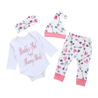 Daddy's Girl and Mommy's World Baby girls clothes Outfit