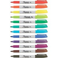 Sharpie® Fine Point Permanent Markers, Assorted, Dozen