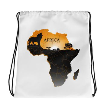 Ethnic African Drawstring Cinch Sack Bag Unisex