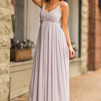Take My Hand Maxi Dress, Lilac Gray