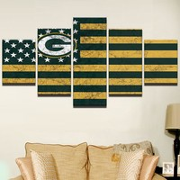 Green Bay Packers American Flag