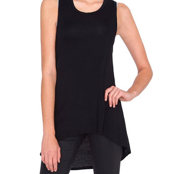 Joy Tank Jersey Top - Black