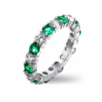Bling Jewelry Stack EM Green Ring
