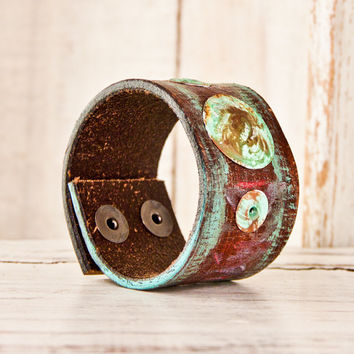 Women's Wrist Band Leather Cuff Jewelry Bracelets Gift For Her Winter Christmas Finds Holidays Unique Gifts Shopping Sale