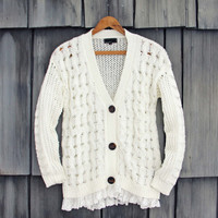 Jack Frost Lace Fisherman's Sweater
