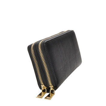 Mechaly Women's Nancy Black Vegan Leather Wallet