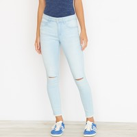 Light Marble High Waist Ankle Jegging