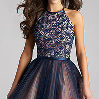 Madison James Fit and Flare Homecoming Dress