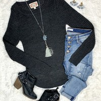 Charcoal Chimes Sweater