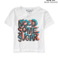 Aeropostale  Womens Sheer Sugar Boxy Graphic T-Shirt