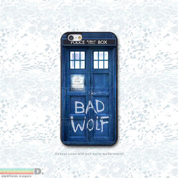Dr. Who Bad Wolf Tardis Custom Phone Case for iPhone 4/4s, 5/5s, 6/6s, 6/6s+, iPod Touch 5
