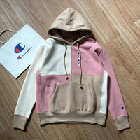 Champion Color Stitching Hoodie Sweatshirt