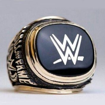 SPORTS RING * 2015 WORLD WRESTLING * CHAMPIONSHIP HALL OF FAME/...fast delivery!