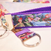 Peter Pan keychain wristlet READY TO SHIP
