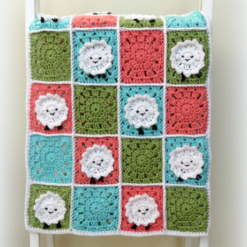 Crochet Baby Blanket Patterns With Animals : Gallery For > Crochet Animal Baby Blanket