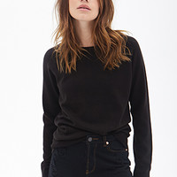 FOREVER 21 Solid Raglan Sweater