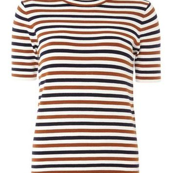 Ginger and Navy Stripe Tee - View All New In - New In