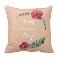 Custom message - Floral chic pillow