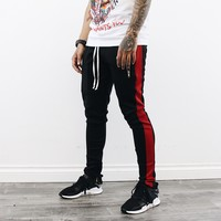 Grady Track Pants (Black/Red)