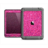 The Pink Sparkly Glitter Ultra Metallic Apple iPad Mini LifeProof Nuud Case Skin Set