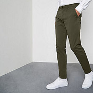 Dark green super skinny chino pants - Chinos - Pants - men