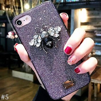 Bee flash powder for men and women iphoneX mobile phone case cover F0840-1 #5