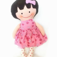Handmade Rag Doll, Cloth Doll, Toddler Gift, Ballerina Doll, Baby First Doll, Soft doll, Gift for Toddler Girl, Plush Doll