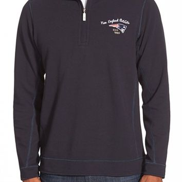 Men's Big & Tall Tommy Bahama 'Ben & Terry - New England Patriots' Half Zip Pullover Sweatshirt,