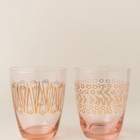 Pink and Gold Glass Set