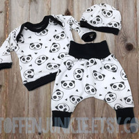 Preemie Clothes, Premature Baby Outfit, Preemie Boy Clothes, Preemie Girl Clothes, Newborn Baby, Bringing Home Outfit, Panda Baby Clothes