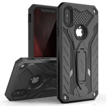 DCCKV2S iPhone X Case - Zizo [Static Series] Shockproof [Military Grade Drop Tested] w/ Kickstand [iPhone X Heavy Duty Case] Impact Resistant
