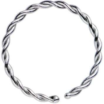 "20 Gauge 5/16"" Annealed Steel Seamless Braided Circular Ring"