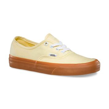 Vans Authentic Shoes in Banana VN-00AIGEU Women's Sizes