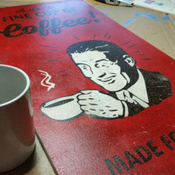 Twin Peaks Poster on Wood, A damn fine cup of coffee! - Dale Cooper Quote from Twin Peaks
