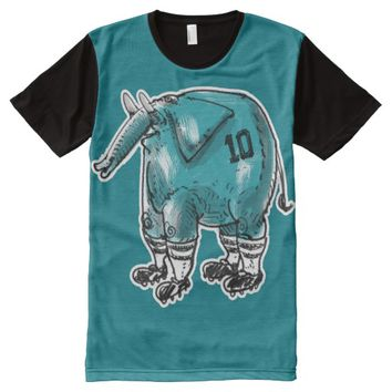 elephant the soccer player All-Over print shirt