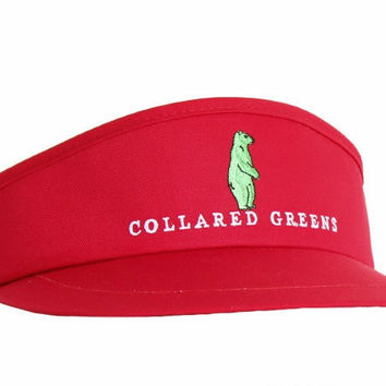 Tour Golf Visor in Red by Collared Greens