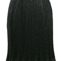 Carven Sequined Pleated Skirt - Farfetch