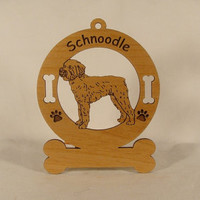 3890 Schnoodle Standing Personalized Wood by gclasergraphics