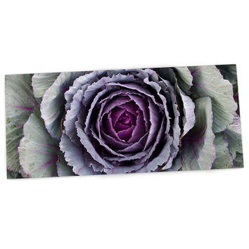 "Susan Sanders ""Flower Love"" Purple Green Desk Mat"