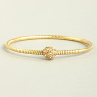 Spherical Dance Gold Rhinestone Bracelet
