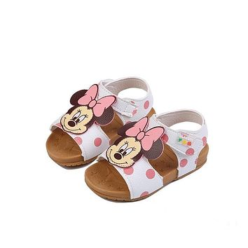2019 New Children's Shoe PU Leather Bebe Girls Sandals Summer 1-2-3 Years Old Toddler Girls Shoe Cute Cartoon Style Dropshipping