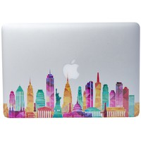 """NDAD® Famous Buildings in the United States Removable Vinyl Decal Sticker Skin for Macbook Pro Air Mac 13"""" Laptop with NDAD Microfiber Cleaning Cloth(12""""*8"""")"""