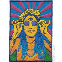 Retro Hippie Chick  Patch on Sale for $5.99 at HippieShop.com
