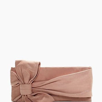 Kate Spade New York Leather Gini Oversized Bow Front Clutch