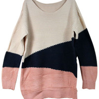 ROMWE | Color Block Loose Jumper, The Latest Street Fashion